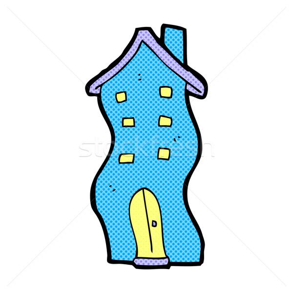 Képregény rajz ház firka retro képregény Stock fotó © lineartestpilot