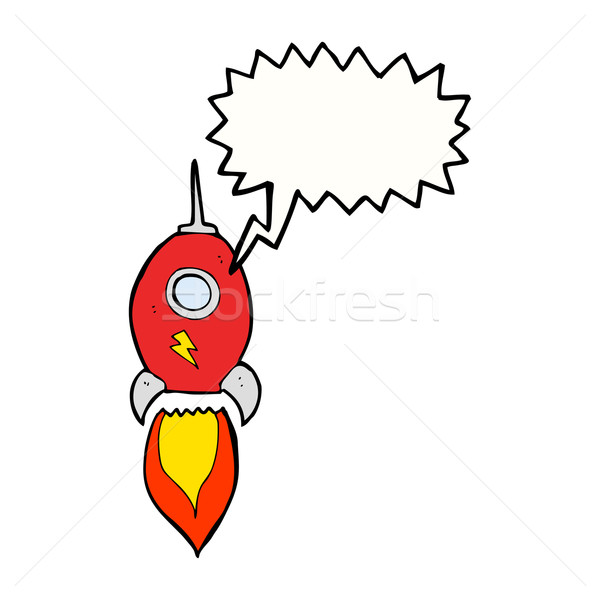 Rajz űrhajó szövegbuborék kéz terv művészet Stock fotó © lineartestpilot
