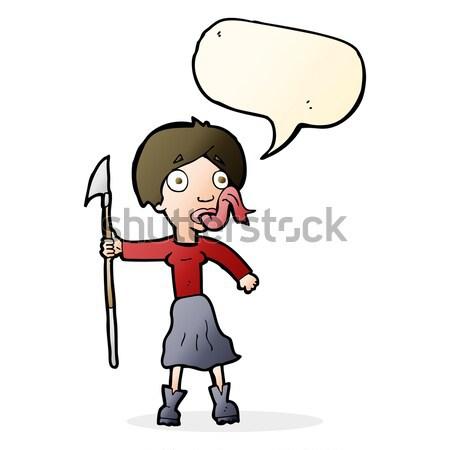 comic cartoon woman telling lies Stock photo © lineartestpilot