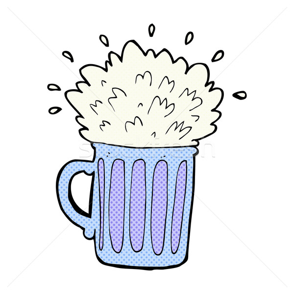 comic cartoon frothy beer Stock photo © lineartestpilot