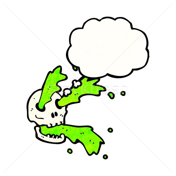 Nyálka koponya rajz retro léggömb rajz Stock fotó © lineartestpilot