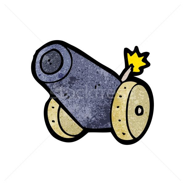 cartoon cannon Stock photo © lineartestpilot