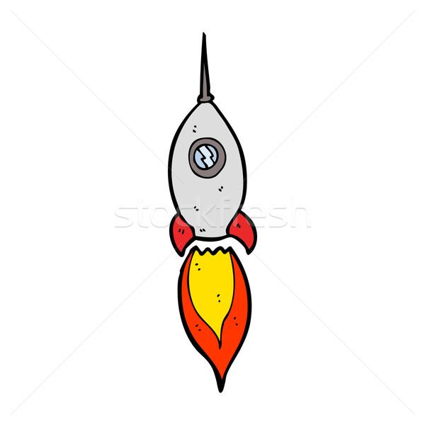 Cartoon statek kosmiczny strony projektu przestrzeni statku Zdjęcia stock © lineartestpilot