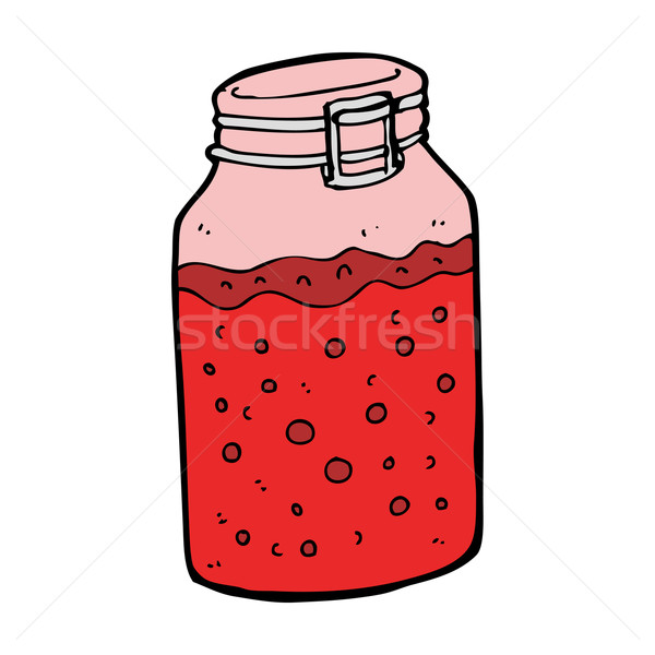 Stock photo: cartoon home made preserve