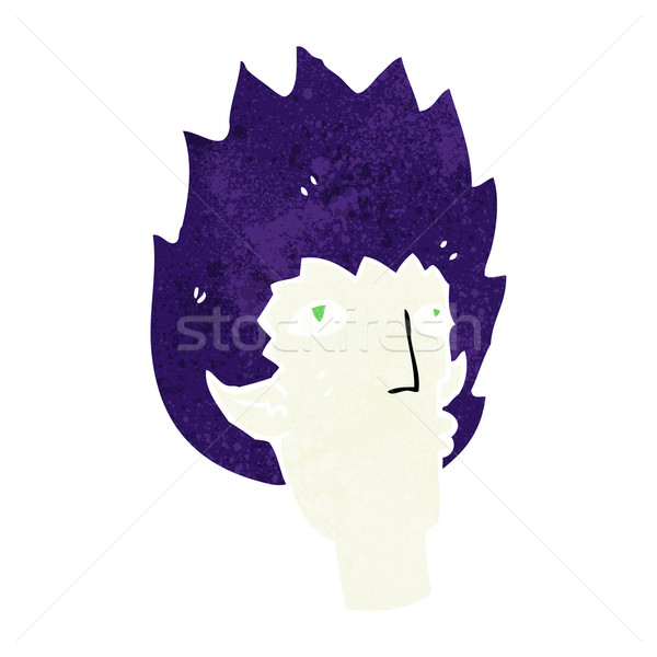 Cartoon wampira twarz projektu sztuki retro Zdjęcia stock © lineartestpilot