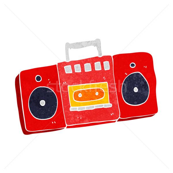 Rajz rádió kazetta játékos kéz terv Stock fotó © lineartestpilot