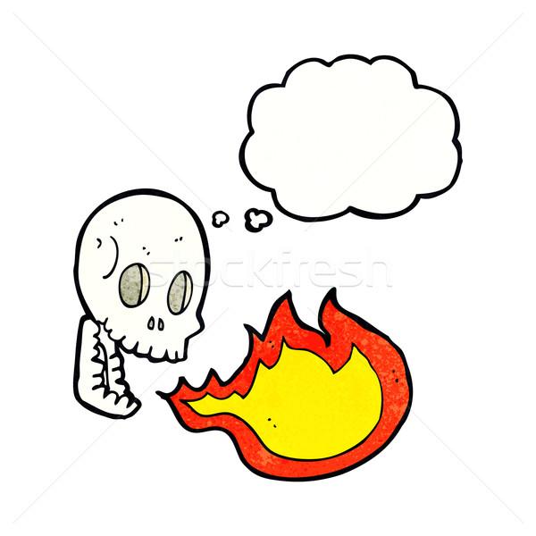 漫画 火災 呼吸 頭蓋骨 思考バブル 手 ストックフォト © lineartestpilot