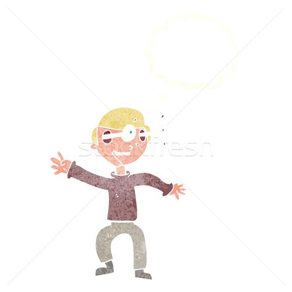 Cartoon мальчика мысли пузырь стороны человека Сток-фото © lineartestpilot