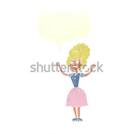 Cartoon человек мысли пузырь стороны человека Сток-фото © lineartestpilot