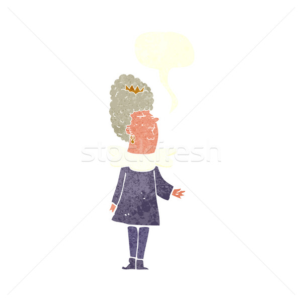 cartoon queen with speech bubble Stock photo © lineartestpilot