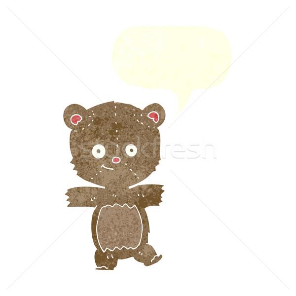 Cartoon divertente orsacchiotto fumetto mano design Foto d'archivio © lineartestpilot