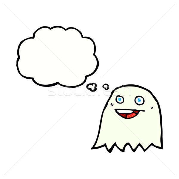 cartoon ghost with thought bubble Stock photo © lineartestpilot
