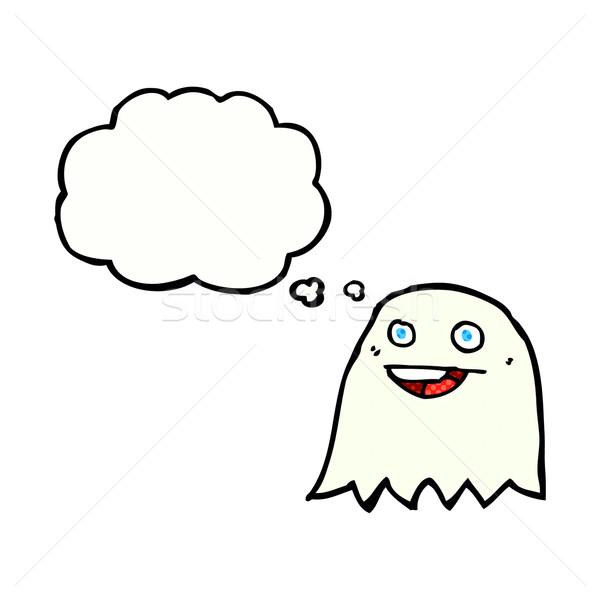 Karikatür hayalet düşünce balonu el dizayn sanat Stok fotoğraf © lineartestpilot