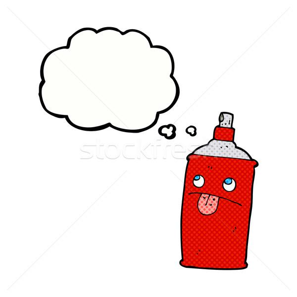商业照片 / 矢量图: 漫画 · 喷雾 · 可以 · 思想泡沫 ·手· 设计