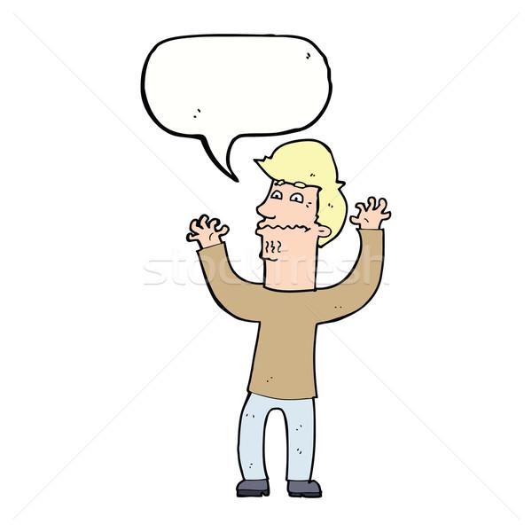 漫画 神経質な 男 吹き出し 手 デザイン ストックフォト © lineartestpilot