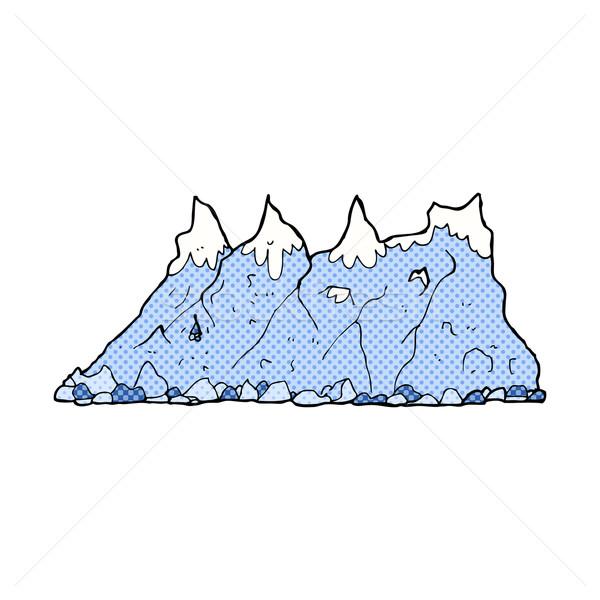 Cômico desenho animado montanha alcance retro Foto stock © lineartestpilot