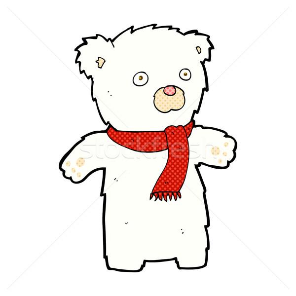 Dessinées cartoon cute ours polaire rétro Photo stock © lineartestpilot