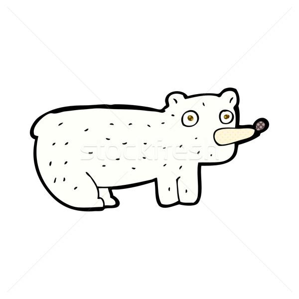 Engraçado cômico desenho animado urso polar retro Foto stock © lineartestpilot