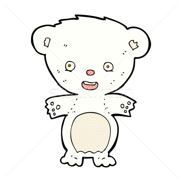 comic cartoon polar bear Stock photo © lineartestpilot