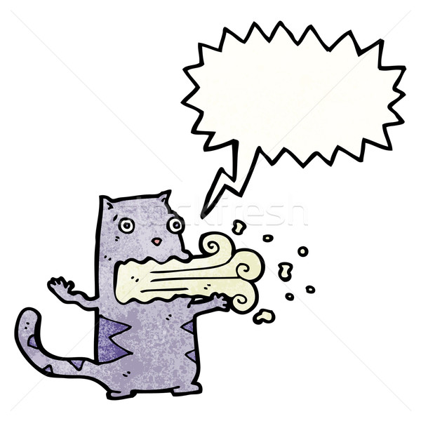 cartoon cat with bad breath Stock photo © lineartestpilot