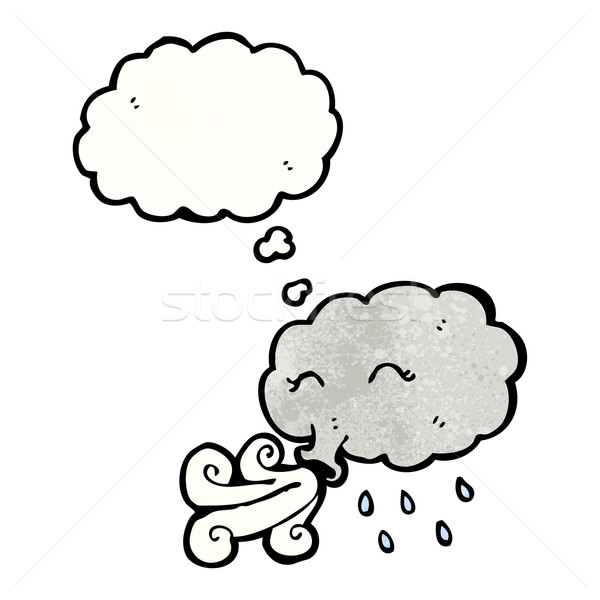cartoon stormcloud blowing Stock photo © lineartestpilot