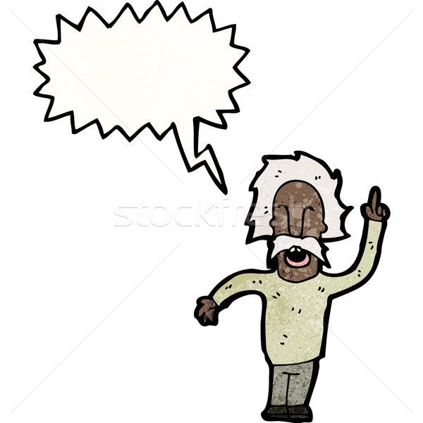Stock photo: cartoon genius old man