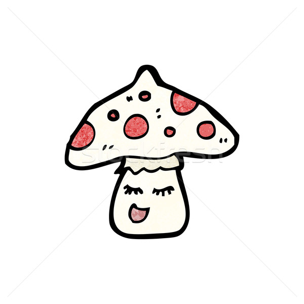 Cartoon rospo retro disegno cute illustrazione Foto d'archivio © lineartestpilot