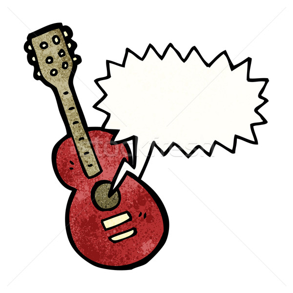 cartoon acoustic guitar Stock photo © lineartestpilot