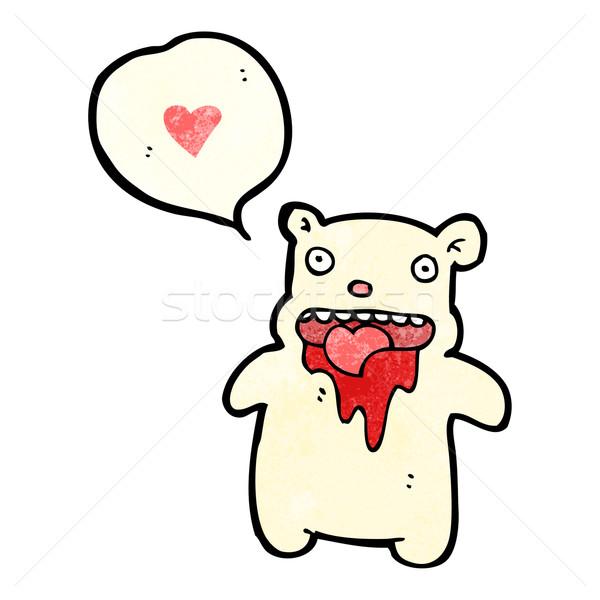 Véres jegesmedve rajz vér retro medve Stock fotó © lineartestpilot
