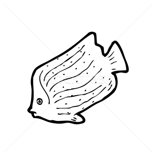 Fish cartoon images black and white