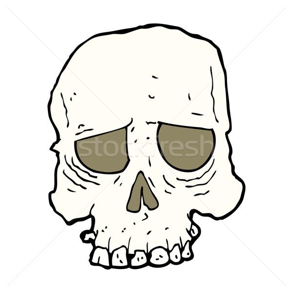 cartoon spooky skull Stock photo © lineartestpilot