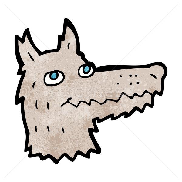 Karikatür kurt kafa dizayn sanat hayvanlar Stok fotoğraf © lineartestpilot