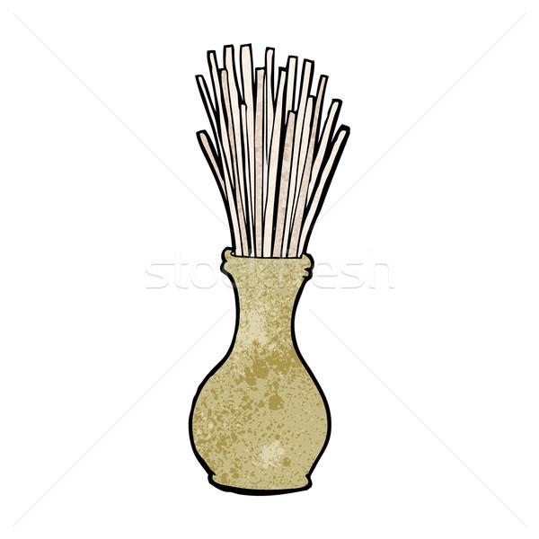 cartoon reeds in vase Stock photo © lineartestpilot