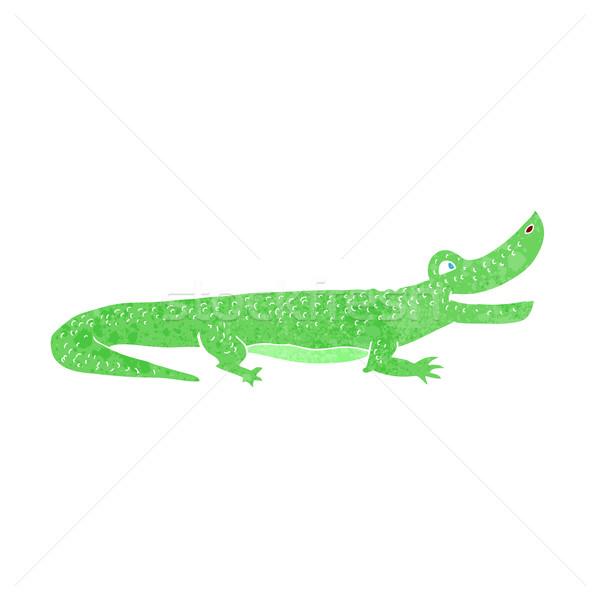 Cartoon feliz cocodrilo mano diseno animales Foto stock © lineartestpilot