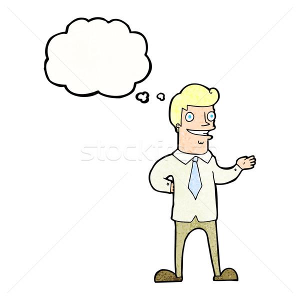 Cartoon продавцом мысли пузырь стороны дизайна искусства Сток-фото © lineartestpilot