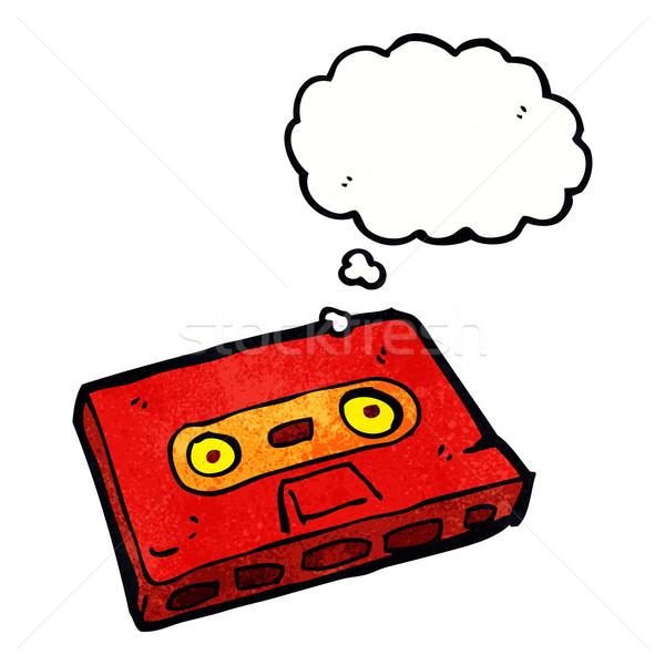 Cartoon kaseta taśmy bubble myśl strony projektu Zdjęcia stock © lineartestpilot