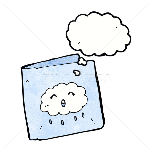 cartoon card with cloud pattern with thought bubble Stock photo © lineartestpilot