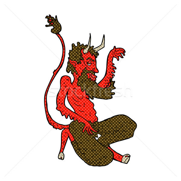 comic cartoon traditional devil Stock photo © lineartestpilot