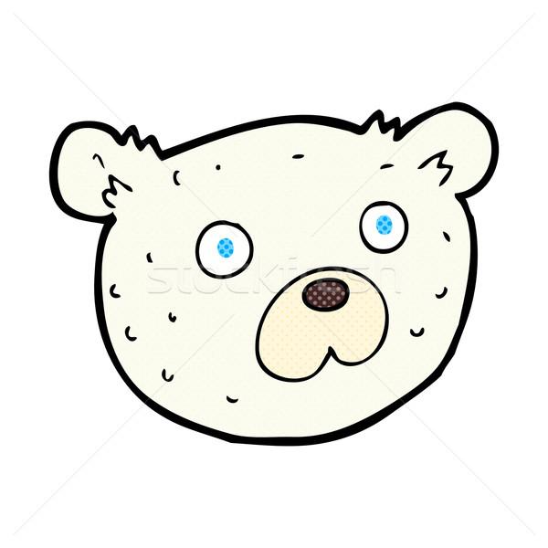Fumetto cartoon orso polare retro stile Foto d'archivio © lineartestpilot