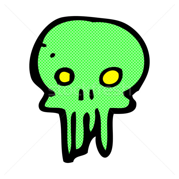 comic cartoon spooky skull symbol Stock photo © lineartestpilot