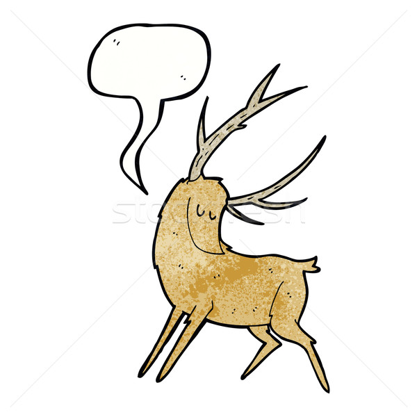 cartoon stag with speech bubble Stock photo © lineartestpilot