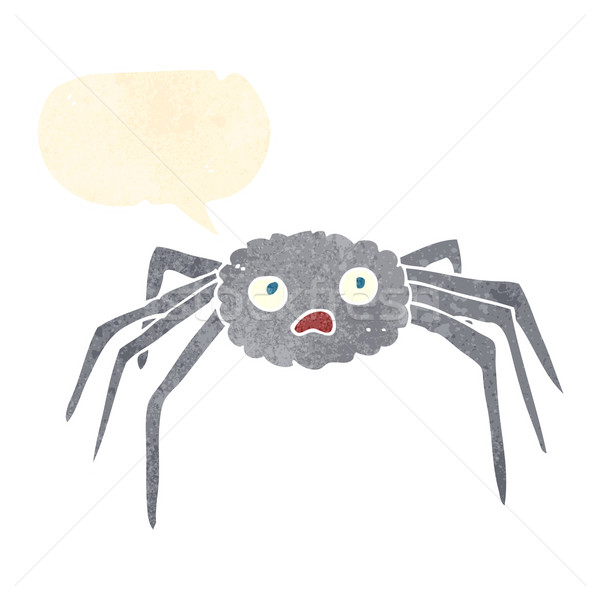 cartoon spider with speech bubble Stock photo © lineartestpilot