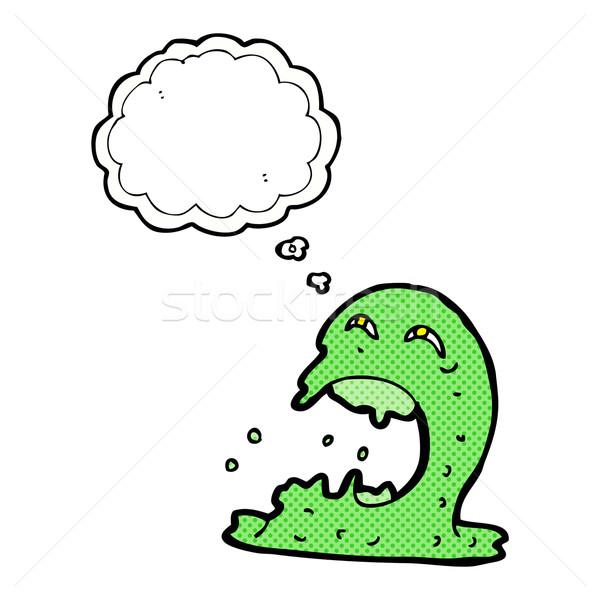 Cartoon fantasma bolla di pensiero mano design Crazy Foto d'archivio © lineartestpilot
