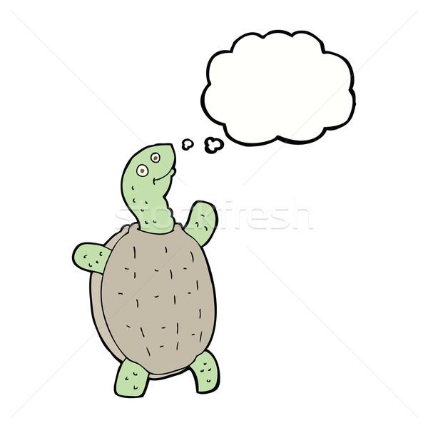 漫画 幸せ カメ 思考バブル 手 デザイン ストックフォト © lineartestpilot