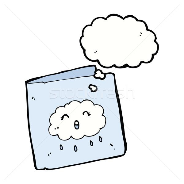 Cartoon karty Chmura wzór bubble myśl strony Zdjęcia stock © lineartestpilot