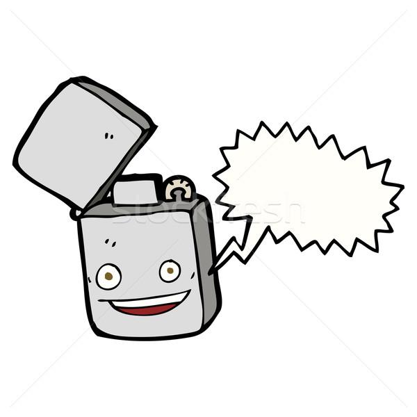 Cartoon metal encendedor bocadillo mano diseno Foto stock © lineartestpilot