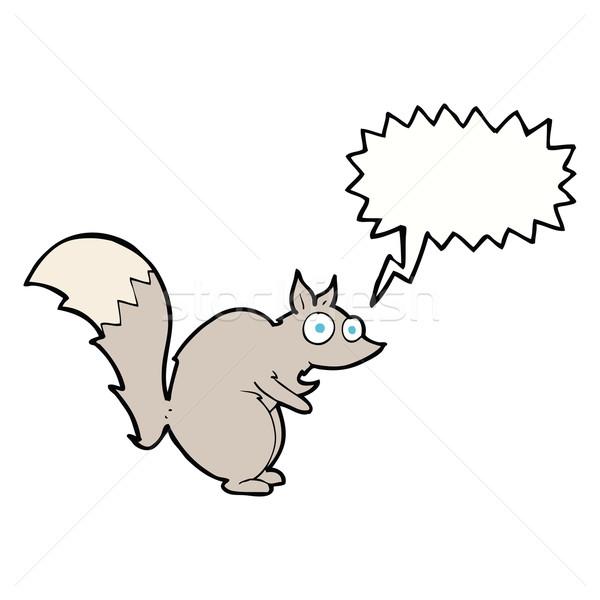 面白い リス 漫画 吹き出し 手 デザイン ストックフォト © lineartestpilot
