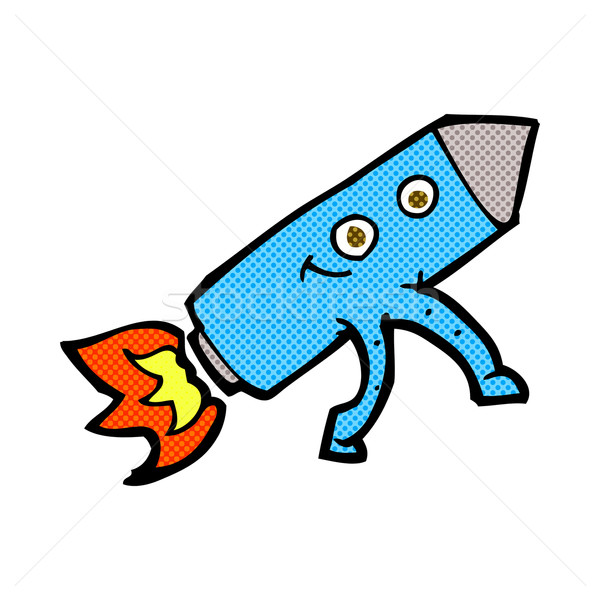 comic cartoon happy rocket Stock photo © lineartestpilot