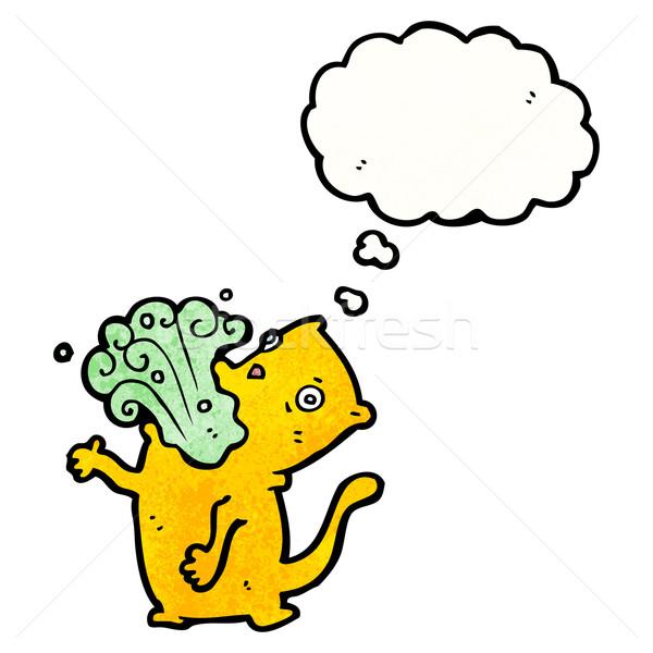burping cat cartoon Stock photo © lineartestpilot