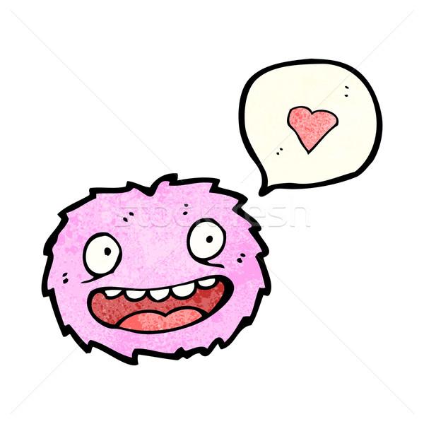 Pequeno rosa peludo monstro desenho animado arte Foto stock © lineartestpilot